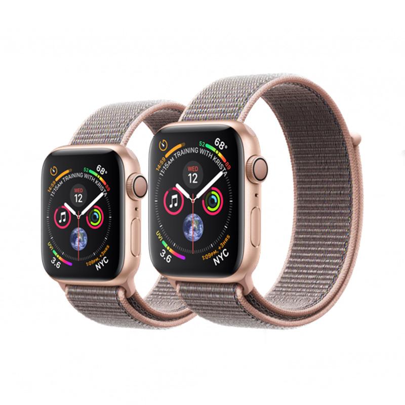 timeless design 1bdd6 c4b35 Apple Watch - Series 4 - 40mm Gold Aluminum - Pink Sand Sport Loop