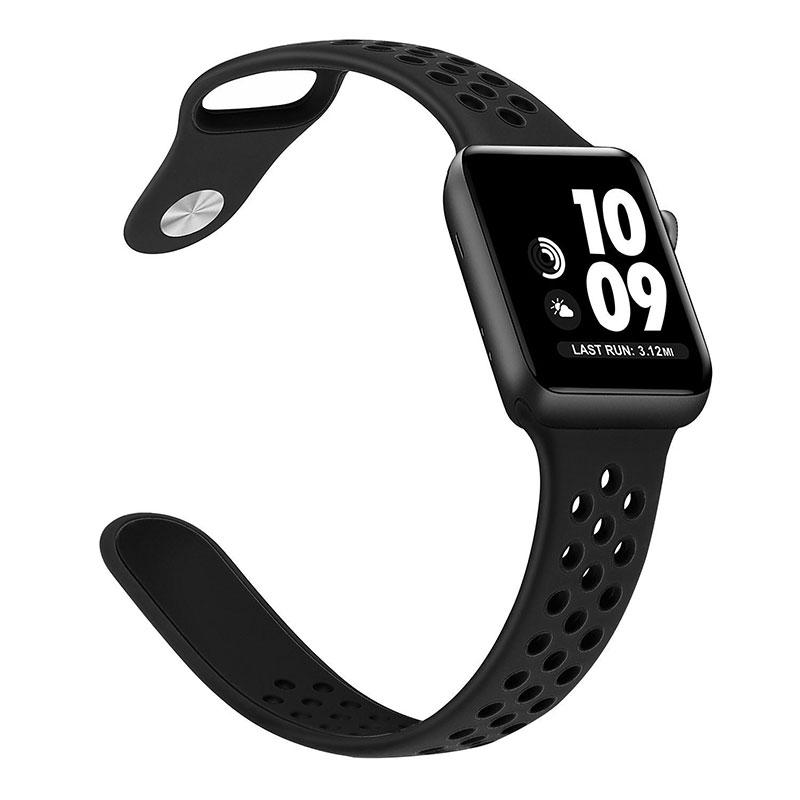 zapatos deportivos patrones de moda precio baratas Apple Watch – Series 3 – 38mm Nike Band – Black   Nanodog.net